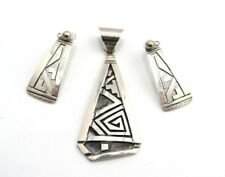 Sterling Navajo Peter Nelson Pendant and Earring set
