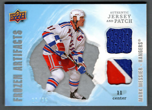 2008-09 UD Artifacts Silver Patch & Jersey Mark Messier #11/35 Rangers Jersey #