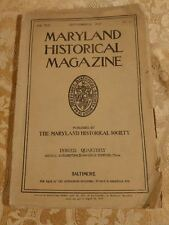 1918 Maryland Historical Magazine September Issue Antique Quarterly Periodical