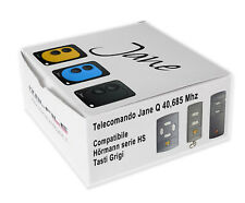 Telecomando radiocomando Jane compatibile con HORMANN 40,685 Mhz tasti grigi