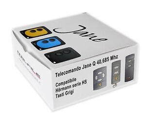 Télécommande Radio Jane Compatible Avec Hormann 40,685 MHZ Boutons Gris