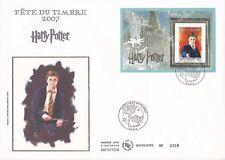 Enveloppe grand format 1er jour 2007 La fête du timbre Harry Potter bloc