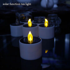 2x Solar LED Tealight Candle Decorative Candles Home Wedding Holiday Decor