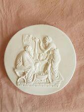 Couple supper scene Grand Tour Cameo Intaglio Medallion Seal Plaster Tassie New