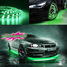 Newest 4x Green LED Strip Under Car Underglow Underbody Neon Light Kit For Benz