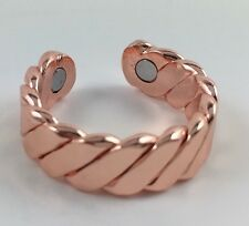 NEW! Men Women's 3 INCH MAGNETIC THERAPY ADJUSTABLE RING: Copper.