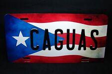 PUERTO RICO FLAG CAGUAS ISLA DEL ENCANTO METAL NOVELTY LICENSE PLATE FOR CARS