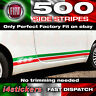 Fiat 500 595 Italian flag Side Stripes, Decals, Graphics, Stickers, PERFECT FIT