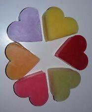 LOT REVENDEUR - NEUF - 15 x 6 cœurs de savon - 6 parfums différents