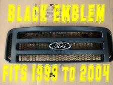 Ford MATTE BLACK emblem Grille CONVERSION fit 1999-2004 Super Duty F250 F350