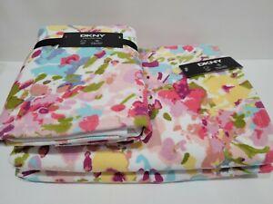 DKNY Bathroom Floral Water Color Bath Towels & Hand Towels 4pc New~