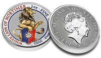 Großbritannien 5 Pfund 2020 White Lion of Mortimer 2 oz Silber Münze in Farbe
