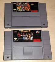 WWF Royal Rumble & Wrestlemania wrestling 2 game lot Super Nintendo.SNES WWE NWO