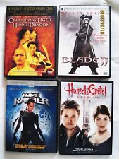 Lot 4 Dvds: Crouching Tiger Hidden Dragon; Blade Ii, Tomb Raider, Hansel&Gretel