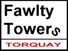 Fawlty Towers Letrero De Calle / Aluminio Metal / Torquay