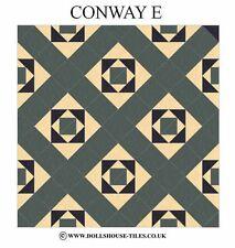 DOLLS HOUSE MINIATURES,DOLLS HOUSE TILES &.FLOORING.CONWAY (E) FLOOR TILES