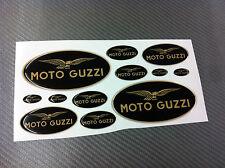 Kit Adesivi MOTO GUZZI BLACK & GOLD 12 pz. 3D resinati