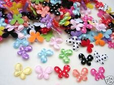 200 Mix Mini Polka Dot Satin Butterfly 15mm Applique/trim/padded/fabric/bow H79