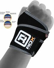 RDX Neoprene Silicon Wrist Brace Support Gym Weight Lifting Strap Bandage Wrap A
