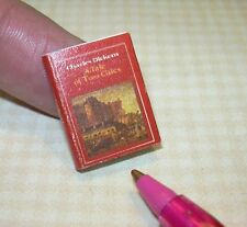 Miniature A Tale of Two Cities, Printed Pages, Dust Cover: Dollhouse Book 1:12