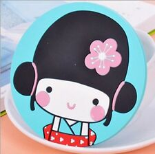 Japanese Geisha Girl Waterproof Coaster Home Kitchen Bar Drink Tool Accessories