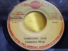 1976 Roots Reggae 45 : Conscious Mind ~ Careless Dub ~ International Roots