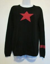MAGASCHONI L Black Red Star Sweater
