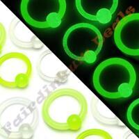 12 mm Acrylic Glow In the Dark Captive Bead Ring