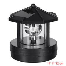Solar Powered LED Rotating Lighthouse Light Garden Lawn Lamp Yard Outdoor Decor