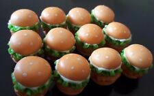 12 Pcs Dollhouse Miniatures Food & Groceries Supply Handcrafted Chicken Burger A