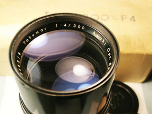 Asahi Pentax 300mm f4 Manual Focus Lens with M42 Screw Mount  Super Clean