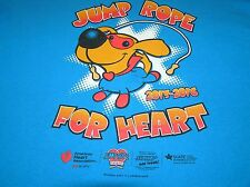 T-SHIRT JUMP ROPE FOR HEART AMERICAN ASSN DOG 2015-2016 BLUE L LRG LARGE