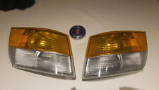 87-93 SAAB 900 FRONT RIGHT AND LEFT TURN SIGNAL LIGHT PAIR OEM
