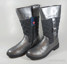Umi Girls Quiltee UmiTex Pewter Zip Boots UK 2.5 EU 35 US 3 RRP £53
