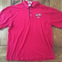 Vintage Chevrolet Racing Mens 2XL Made in USA Red Polo Free Shipping