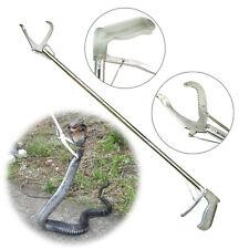 """47"""" Reptile Snake Tongs Stick Grabber 120cm Snake Catch Pro Herp Handing Tool"""