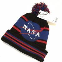 NASA Beanie Pompom Hat NWT One Size Fits All