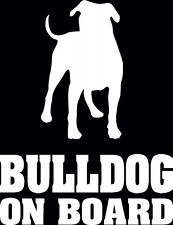 American Bulldog On Board, Car Sticker, silhouette. Great Gift For Dog Lover