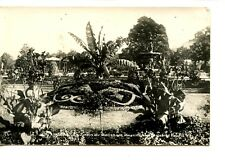 Pretty Flower Garden-Fountain-Angers-France-RPPC-Vintage Real Photo Postcard