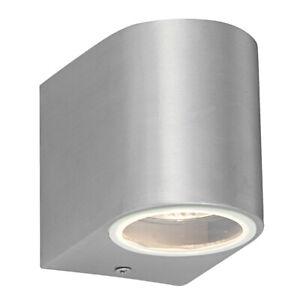 SAXBY Doron 35W GU10 IP44 Dimmable Single Down Wall Light Outdoor Garden 43655
