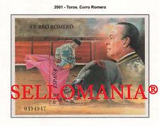 2001 TOROS CURRO ROMERO BULLS BULLFIGHTER BULLRING  3834 ** MNH HB SHEET TC22025
