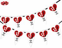 Divorce Party Bunting Banner 15 flags - At Last Free Bride - by Party Decor