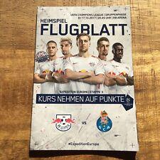 Champions League Programm RB LEIPZIG - FC PORTO 2017