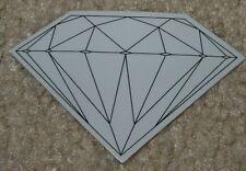 DIAMOND SUPPLY CO Logo Skate Sticker Rock Fine BlkGray skateboards helmets decal