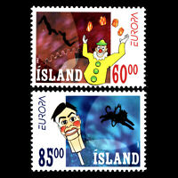 """Iceland 2002 - EUROPA Stamps """"The Circus"""" - Sc 966/7 MNH"""