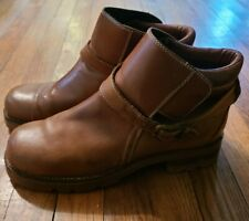 Durango Amazonas Strap Buckle Leather Brown Ankle Boots Men's Size 10.5D  SW1472