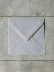 100x100mm (approx/just under 4x4) envelopes white ivory FREE P&P 10,25,50,100