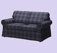 IKEA Ektorp 2-Seat Loveseat Sofa Rutna Slipcover Multi-ShpDisc Color PLAID Cover