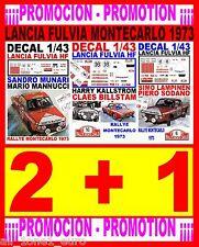 DECAL 1/43 LOTE/BULK/LOT LANCIA FULVIA HF RALLYE MONTECARLO 1973 (01)