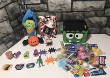 Large Filled Halloween Gift Basket, Candy, Plush Monster, Toy Pumpkin Wrapped